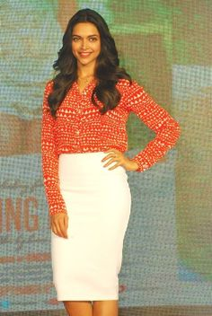 Deepika Padukone during Finding Fanny promotions