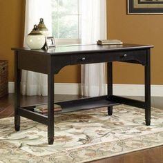 Sauder Edge Water Mobile Lifestyles Writing Desk - Black - You won't look out of…