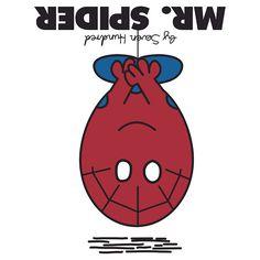 Mr. Spider - Mr. Men Super Heroes