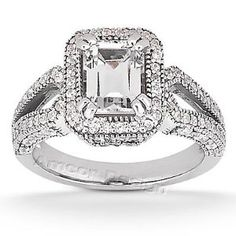 vintage emerald cut engagement rings - Google Search
