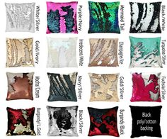 "Mermaid Pillow STUFFED!! 15 Colors Mermaid Pillow Color-changing Mermaid Sequin Pillows, 12"", 16"", 18"", OR Lumbar, pillows by HausVonNoir"