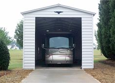 Bradley Mighty Steel RV Garage for sale, RV Shelter pricing Shed Floor Plans, Pole Barn House Plans, Pole Barn Homes, Small House Plans, Shed Plans, Barn Plans, Garage Door Sizes, Garage Doors, Barn Garage
