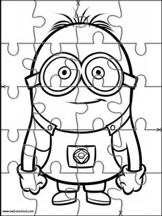 Minions Printable Jigsaw Puzzles for kids 8 Puzzles Für Kinder, Jigsaw Puzzles For Kids, Maze Puzzles, Printable Animals, Printable Activities For Kids, Minion Printable, Printable Puzzles, Barbie Coloring Pages, Colouring Pages