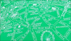 London City Map Wrapping Paper - Stanfords