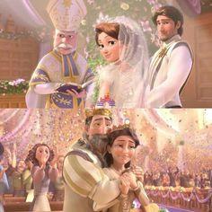 "Rapunzel and Eugene's wedding in ""Tangled: ever after"" Disney Princess Rapunzel, Disney Princess Pictures, Disney Tangled, Disney Pictures, Disney Love, Disney Princesses, Disney Characters, Arte Disney, Disney Magic"