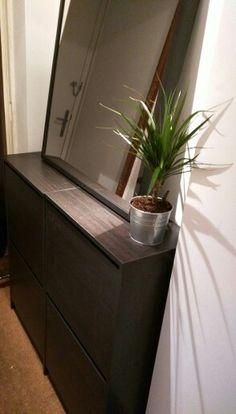 IKEA Bissa x2 with IKEA mirror - Perfect shoe storage for small hallways