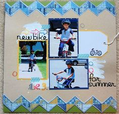 """""""new bike"""" by vsquared, as seen in the Club CK Idea Galleries. #scrapbook #scrapbooking #creatingkeepsakes"""