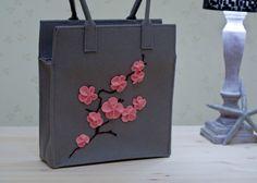 Felt Blossoming Sakura Bag