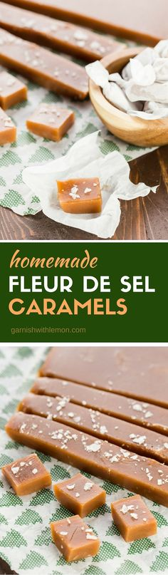 Nothing says the holidays are here like a batch of homemade Fleur de Sel Caramels. So easy, you'll never buy them again!