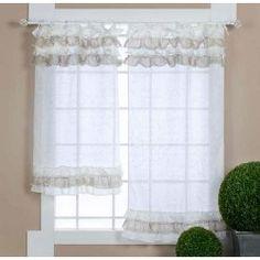 Tenda finestra country chic Collezione Toile Spezie 55 x 200 ...
