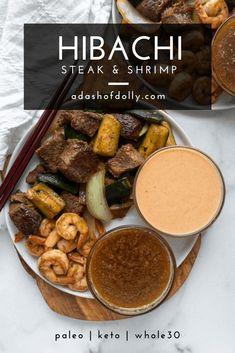 Hibachi Steak And Shrimp Recipe, Hibachi Recipes, Hibachi Chicken, Hibachi Shrimp, Benihana Steak Recipe, Hibachi Noodles, Teriyaki Chicken, Copycat Recipes, Tutorials