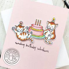 Hero Arts June My Monthly Hero Countdown – Crafts by Channin Cat Birthday, Birthday Cards, Hero Arts, June, Crafts, Bday Cards, Manualidades, Birthday Greetings, Handmade Crafts