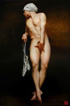 Lin Jinfu (b 1978, China; lives & works Beijing, China) / A finales del siglo pasado era prácticamente imposible ver a un hombre desnudo.