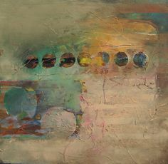 Moonstruck by Judy Thorley abstract mix media with circles