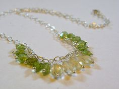 Joy     Peridot Citrine Wire Wrapped by ScorpionMoonDesigns, $78.00