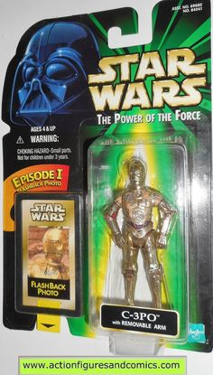 star wars action figures C-3PO flashback power of the force 1998 hasbro toys moc mip mib