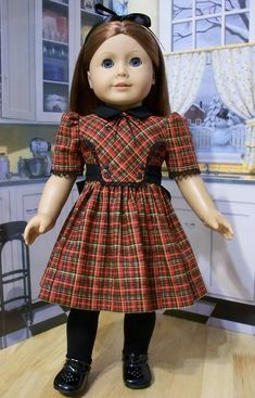 1940's-50's  Plaid Frock~ Made for Emily or Molly