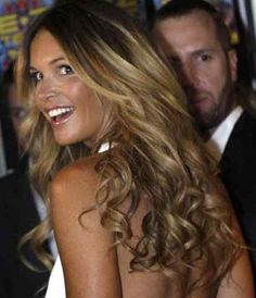 Elle McPherson is just stunning! I love her hair!
