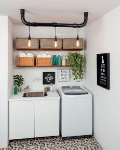 41 Trendy home design ideas decoration laundry rooms Tiny Laundry Rooms, Laundry Room Shelves, Laundry Room Design, Small Laundry, Laundry Decor, Laundry Storage, Interior Design Living Room, Living Room Designs, Living Room Decor