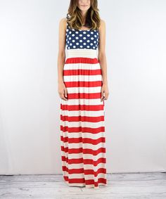 This Red & Blue Flag Maxi Dress is perfect! #zulilyfinds