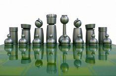 schachfiguren aluminium carbonfasern hochglanz schachbrett