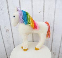 Vintage 80s Toy Rainbow Brite Horse Starlite 80s Cartoon Stuffed Animal Rainbow Bright. $40.00, via Etsy.