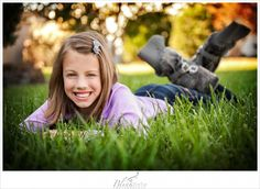 Beautiful pose for a young girl.