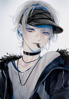 Pixiv ID 13857255 # Mann # Mütze # Anime # Kunst # Kunst - 2006 anime collections Hot Anime Boy, Anime Sexy, Anime Sensual, Cute Anime Guys, Anime Boys, Anime Boy Hair, Manga Boy, Wie Zeichnet Man Manga, Dark Anime
