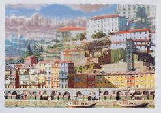 """Ribeira Porto"" - U004 Medium: silk screen  Subject: cityscape  Style: realism  Size: 70 x 50 cm  Price: €50  phone: (+351)962639443  email: franklim.barata@gmail.com"