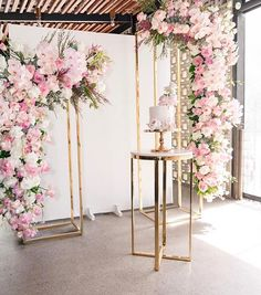 Likes, 25 Comments - Elegant Tea Time Wedding Cake Backdrop, Wedding Stage Decorations, Flower Decorations, Wedding Centerpieces, Wedding Cakes, Decoration Chic, Wedding Table, Wedding Seating, Event Decor