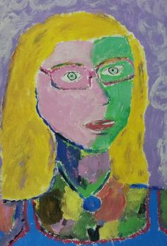 My best friend portrait. Annie, 13 y.o., through Matisse's eyes.