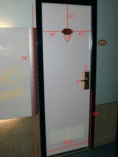 Door dimensions for decorating