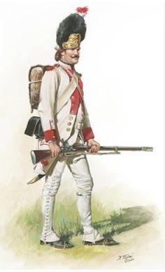 Granatiere di un rgt. fanteria sassone - Don Troiani.