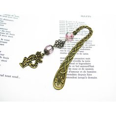 Bookmark jewel bronze metal and charm cat bookmark jewelry, brand-book... ($14) ❤ liked on Polyvore featuring home, home decor and office accessories