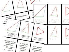 Géométrie : les types de triangles (cartes et présentation d'inspiration Montessori)
