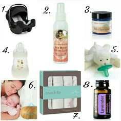 These are a few of Vivienne and her mama's favorite things!!! These items were our must haves to survive  the first months of motherhood!  1. NUNA Pipa Infant Carseat @nuna_usa 2. Earth Mama Angel Baby Bottom Spray @earthmamaangelbaby 3. Motherlove Nipple Cream @motherloveherb 4. MAM Anti-Colic Bottle @buybuybaby  5. WabaNub Lamb Pacifier  @buybuybaby 6. Essential Oil Aroma Diffuser Ultrasonic Humidifier Air Aromatherapy @amazon 7. aden + anais Swaddle Blankets @adenandanais 8. DoTERRA…