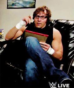 """ Dean Ambrose + Glasses "" (GIF set)"
