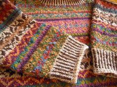 #knit #fairisle Loppukirin paikka