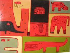 Milo Lockett Art For Kids, Folk Art, Feelings, School, Places, Murals, Creativity, Blue Prints, Atelier