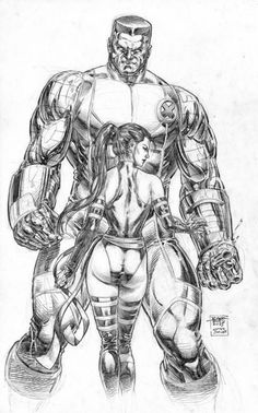 Psylocke vs Colossus by edtadeo on DeviantArt Marvel Comic Character, Comic Book Characters, Marvel Characters, Comic Books Art, Character Art, Comic Book Artists, Arte Dc Comics, Marvel Comics Art, Marvel Heroes
