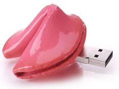Fortune cookie USB . How awesome!! I wonder if it gives you a fortune when you plug it in. Lol