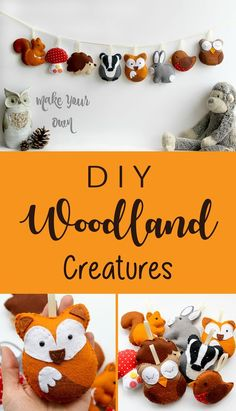 I love doing handwork and this woodland animals set is one of the most fun and cute DIY project I've done! I've received many compliments and can't wait to put it in my child's woodland nursery! #woodland #nursery #diy #crafts #felt #etsy #ad #feltanimalsdiy