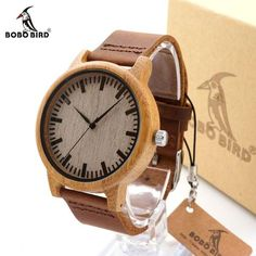 BOBO BIRD A16 Watch for Men Women Bamboo Wood Quartz Watches With Scale Soft Leather Straps relojes mujer marca de lujo 2017