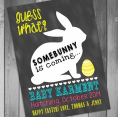 Easter Pregnancy Announcement Some Bunny Pregnancy Reveal Printable Pregnancy Announcement Baby Announcement Announcement Pregnancy