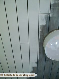 Inexpensive DIY Wood Slat Ceiling