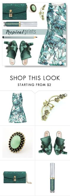 """""""Tropical Prints"""" by simona-altobelli ❤ liked on Polyvore featuring Dolce&Gabbana, Urban Decay, Laura Mercier, dress, MyStyle and tropicalprint"""
