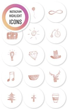 Rose Gold Insta Story Highlights | Set of 16 by Waudle on Etsy https://www.etsy.com/listing/602220815/rose-gold-insta-story-highlights-set-of