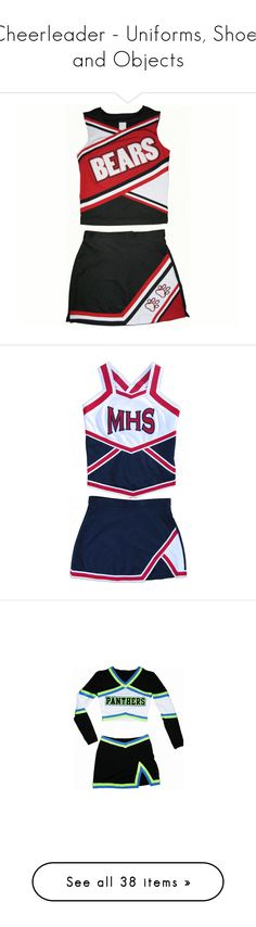 """""""Cheerleader - Uniforms, Shoes and Objects"""" by giovanna1995 ❤ liked on Polyvore featuring cheer, cheerleading, sports, uniform, dresses, tops, skirts, harry potter, hufflepuff and hogwarts"""