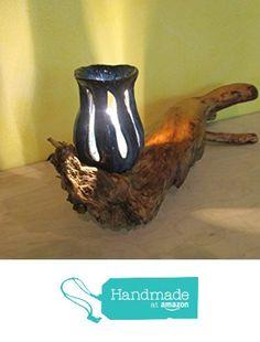 Blaue LED Lampe, Wurzel mit Lampenschirm aus Keramik von der Staudenweiber https://www.amazon.de/dp/B01MDQS2QT/ref=hnd_sw_r_pi_dp_Km.Ayb12EE18A #handmadeatamazon