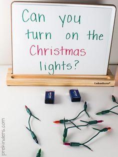 Christmas Lights Science for Preschool, Pre-K Kids
